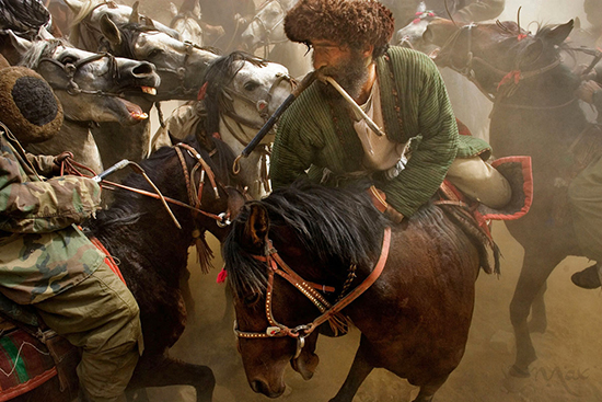 Buzkashi game of Afghanistan. By Max Becherer