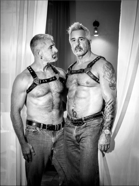 Anthony and Domenick, together 34 years by B. Proud Archival Inkjet Print