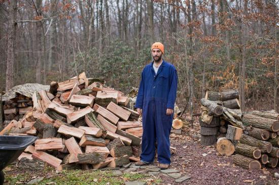 Mike by Woodpile by Greta Brubaker Archival Pigment Print