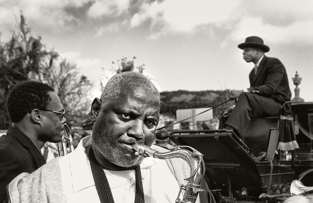 A traditional jazz funeral in the Treme neighborhood, by Joseph Crachiola