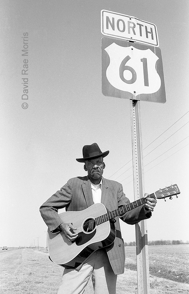 Son Thomas on Highway 61 in the Mississippi, by David Rae Morris
