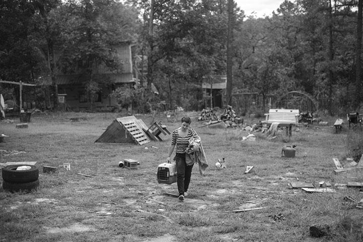 Katie the day she moved out of the house she built with her ex-husband in Arkansas.   (Arkansas / October 2014)