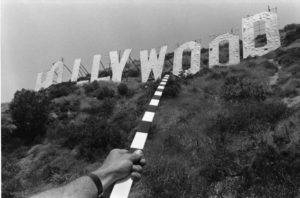 """Hollywood (Archaeological Series, Two Meter Stick)"" 1975 Kenneth Josephson, Gelatin silver print, Copyright Kenneth Josephson"