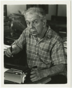 Clarence John Laughlin; 1974; photograph by Michael P. Smith; The Historic New Orleans Collection, gift of Mrs. Clarence John Laughlin, 2006.0019.1.50