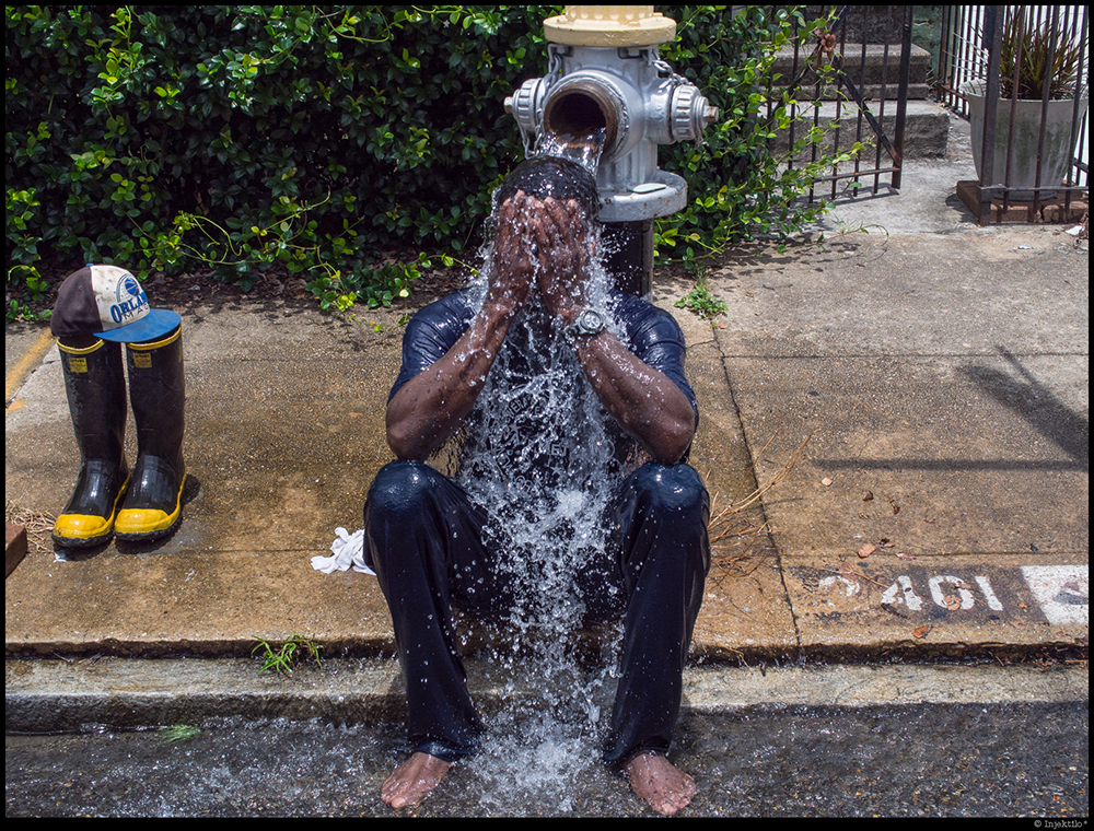 Hydrant Shower, Irish Channel, New Orleans LA