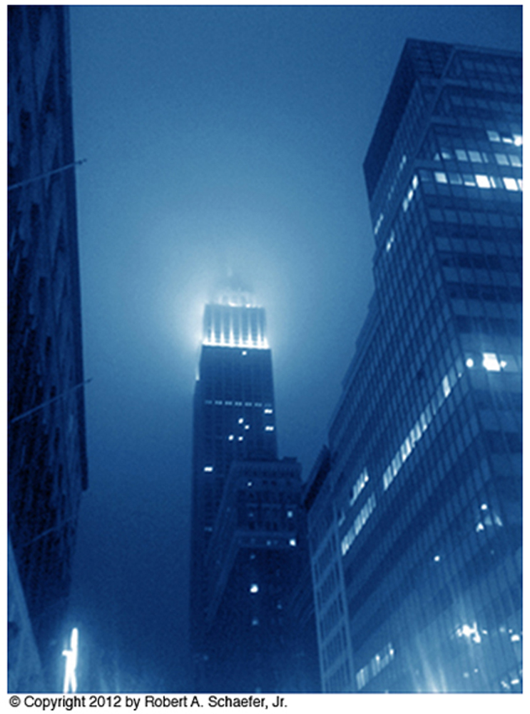 Empire State Building, New York City, NY, 2012 (cyanotype)