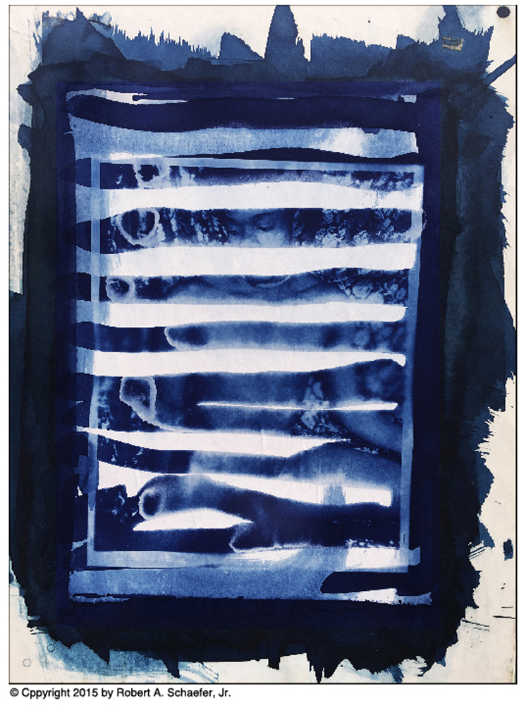 Abstract Nude, New York City, NY, 1992 (cyanotype)