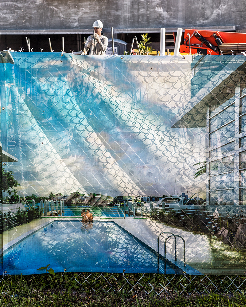 Construction Billboard in Normandy Shores, Miami Beach, Florida