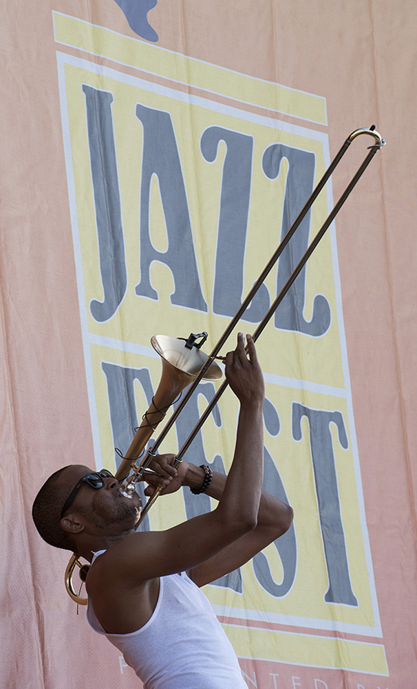 Trombone Shorty closes out Jazz Fest 2018. David Rae	Morris