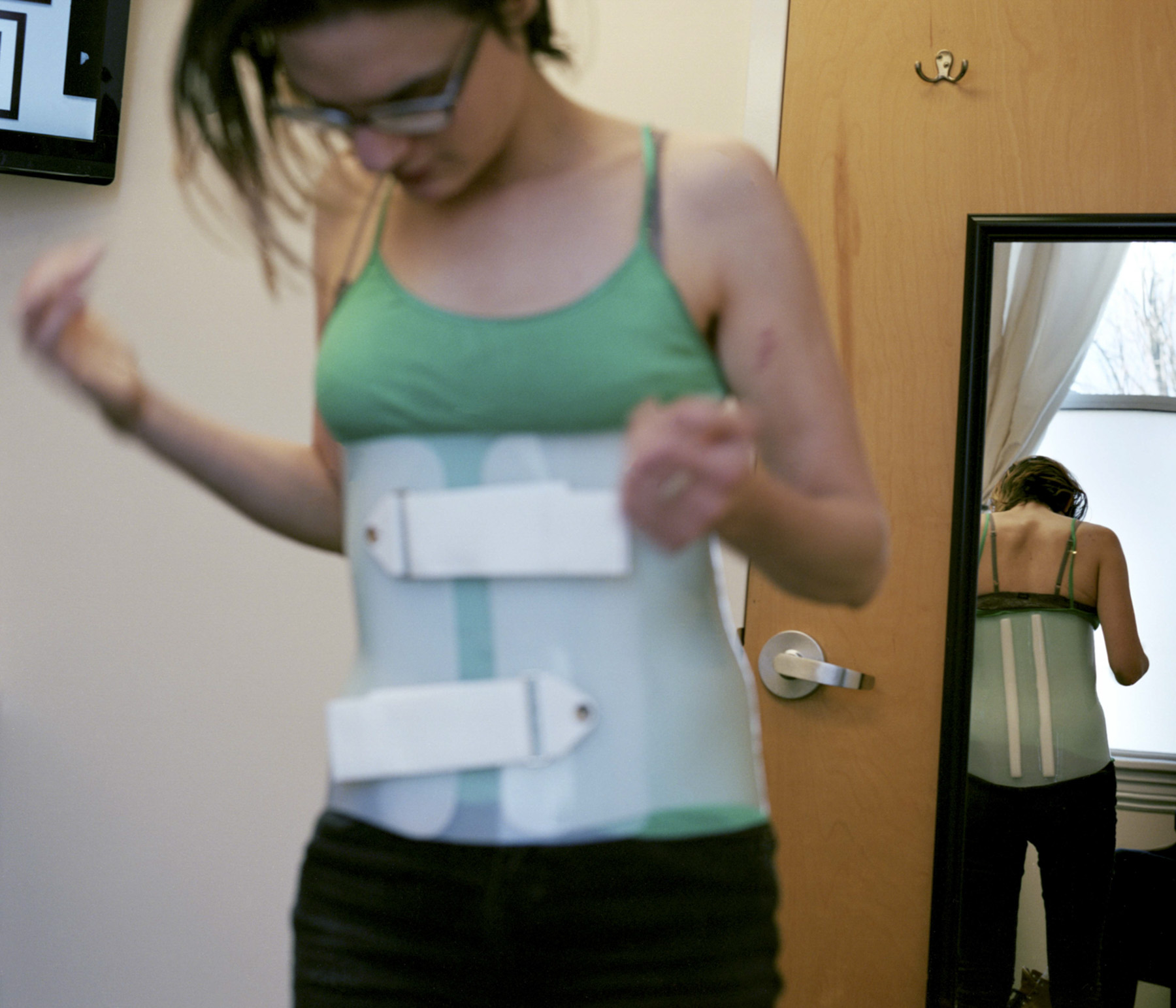 Backbrace at Doctor's Appointment